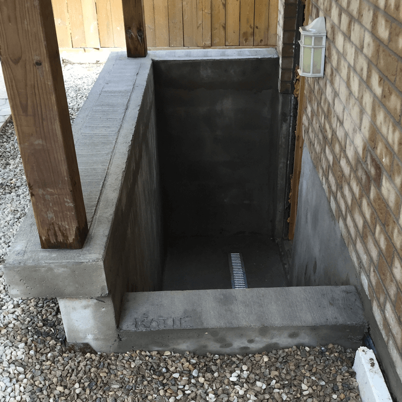 Concrete Walkout Construction
