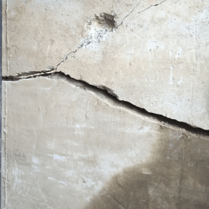 Cracked basement foundation walls