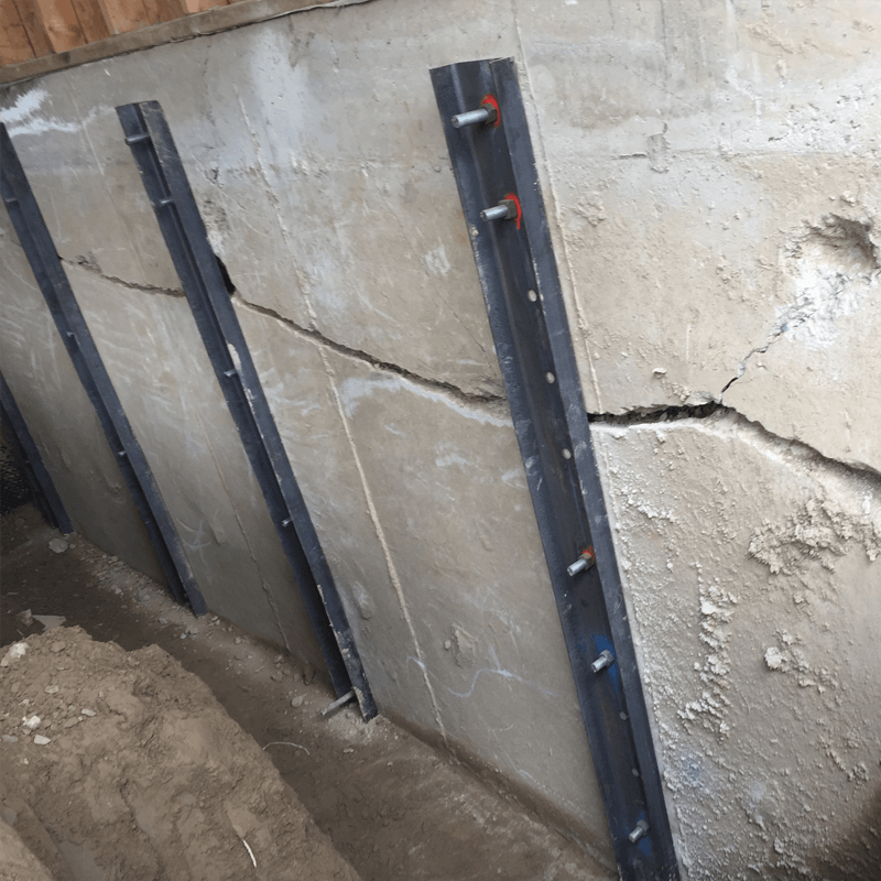 Cracked Walls Reinforcement basement interior