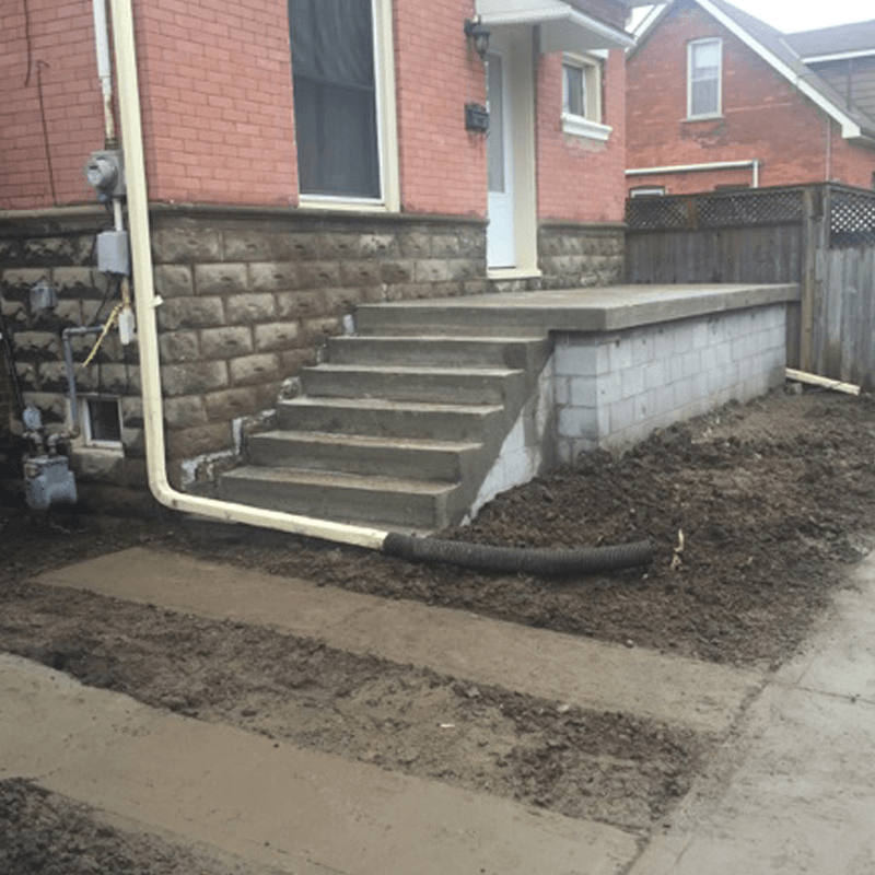 Concrete Porch Construction completed